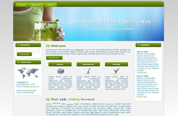 Weight Loss Diet HTML Template