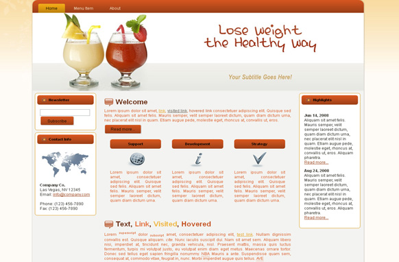 Weight Loss HTML Template