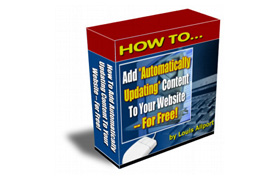 Add Free Auto Updating Content to Your Website