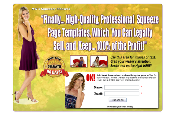 Squeeze Page HTML PSD Edition 4
