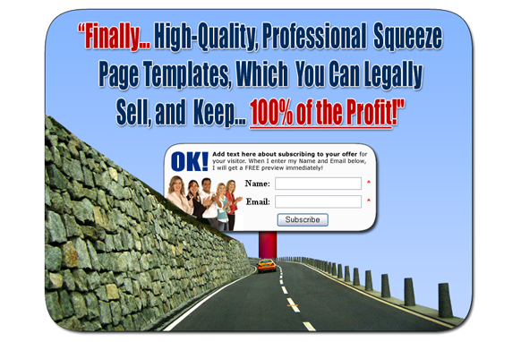 Squeeze Page HTML PSD Edition 9