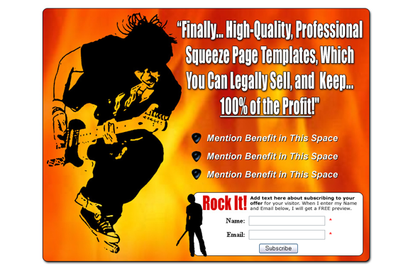 Squeeze Page HTML PSD Edition 12