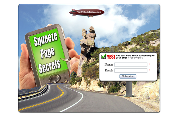 Squeeze Page HTML PSD Edition 15