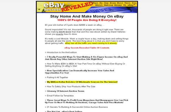 Ebay Secrets Plr Database