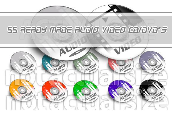 55 Ready Made Audio Video CD-DVD's