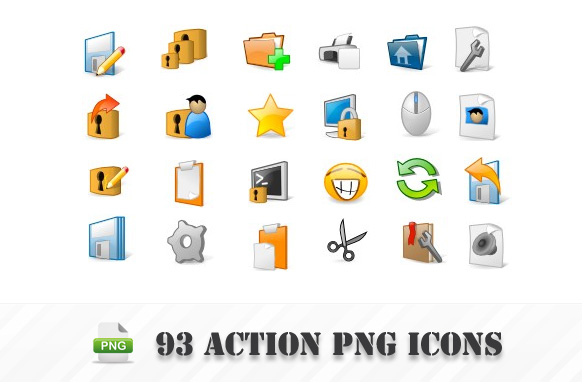 93 Action PNG Icons