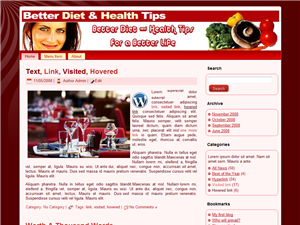 Better Diet & Health WP Theme Edition 1