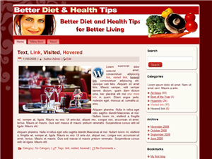 Better Diet & Health WP Theme Edition 2