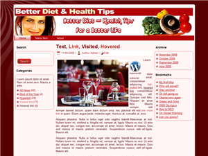 Better Diet & Health WP Theme Edition 3