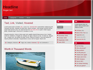 Bizzy Red WP Theme Edition 1