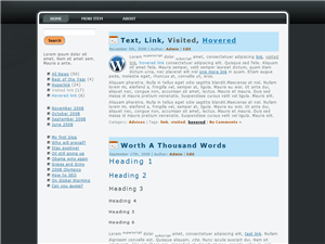 Black Basic WP Theme