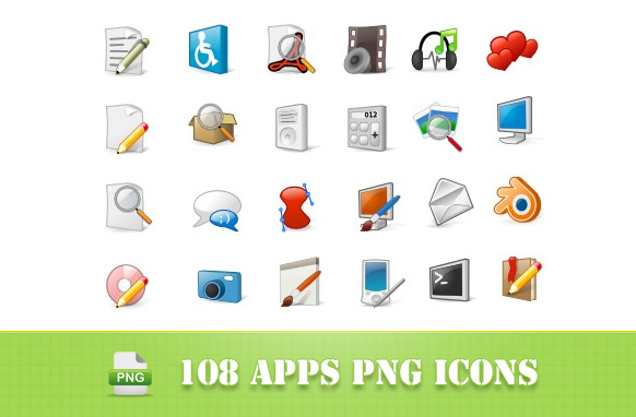 108 Apps PNG Icons
