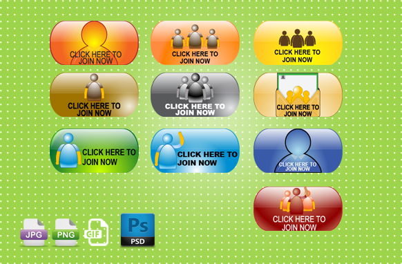 Click Here to Join Now PSD PNG GIF JPG Badges