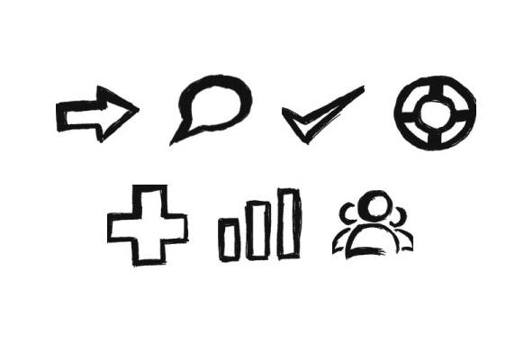 Doodle PNG PSD Icons Set