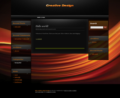 Black Orange Creative WP Theme