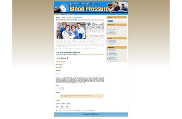 Blood Pressure HTML Theme Edition 1