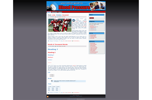 Blood Pressure HTML Theme Edition 2