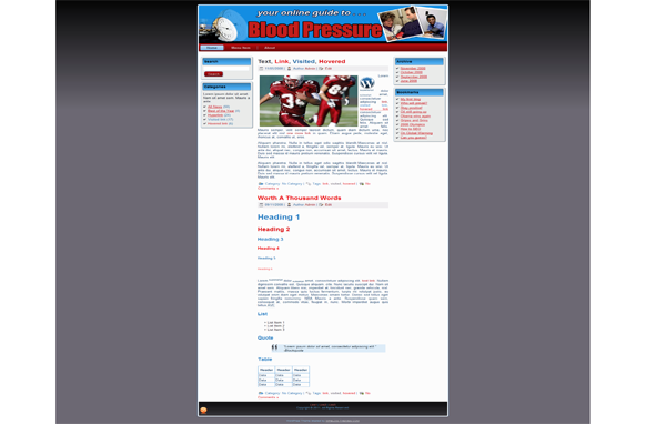Blood Pressure HTML Theme Edition 4