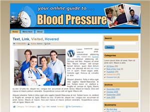 Blood Pressure WP Theme Edition 1