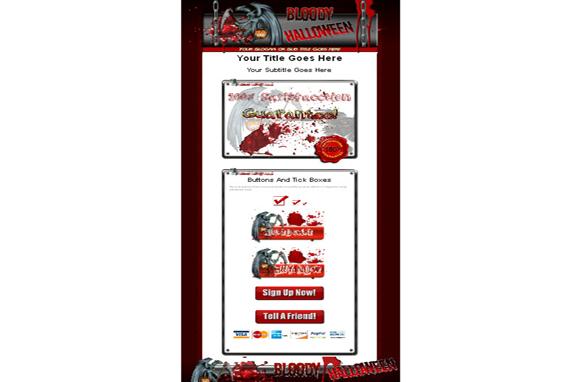 Bloody Halloween HTML Template