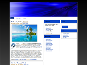 Blue Abstract WP Theme Edition 3