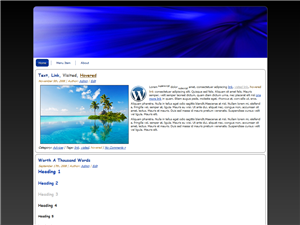 Blue Abstract WP Theme Edition 4
