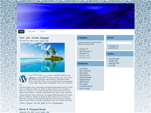 Blue Aqua WP Theme Edition 1