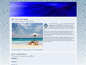 Blue Aqua WP Theme Edition 2