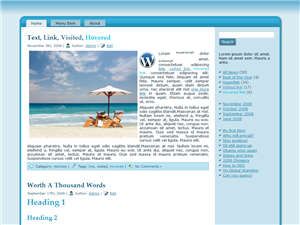 Blue Beach WP Theme