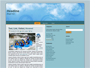 Blue Thinking WP Theme
