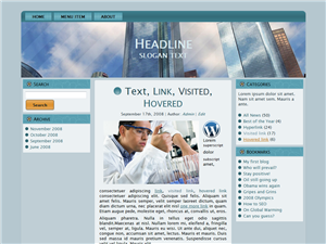 Blue Thought WP Theme