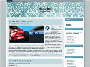 Blue Track WP Theme