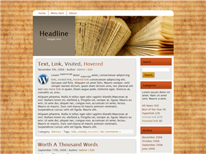 Book Wood WP Theme