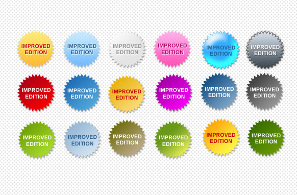 Improved Edition Star Badges PSD