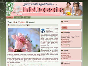 Bridal Accessories WP Theme Edition 1