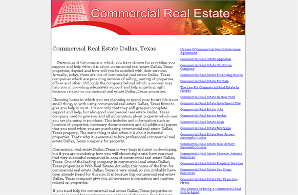 Commercial Real Estate PLR Website Articles and PSDs