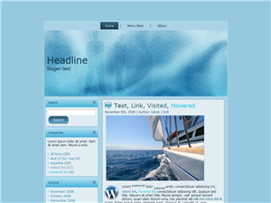 Corprate Blue WP Theme