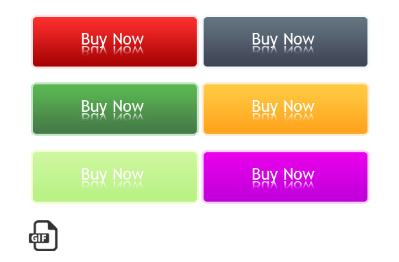 Modern Transparent GIF Buy Now Buttons