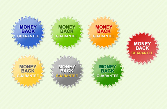 Money Back Guarantee Star PSD