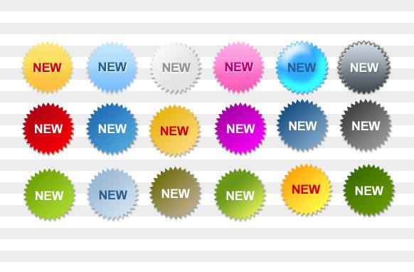 New Star Badges PSD