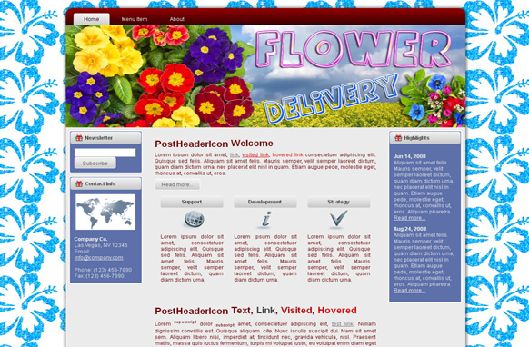Flower Delivery HTML Template