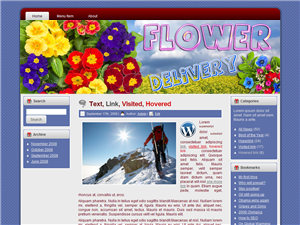 Flower Delivery WP Theme