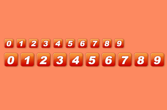 Orange Pagination Set PSD