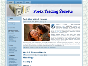 Forex Trading WP Theme Edition 4