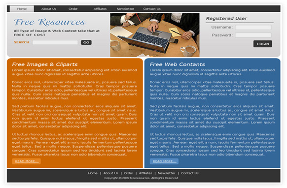 Free Resources HTML Template