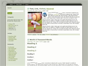 Green Baseball WP Theme