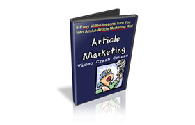 Article Marketing Video Crash Course