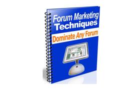 Forum Marketing Techniques