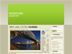Green Hourbour WP Theme