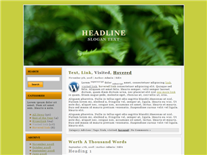 Green Nature WP Theme